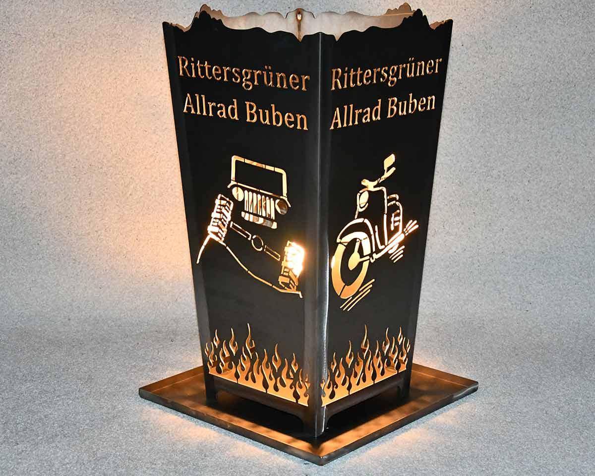 Feuerkorb Allrad