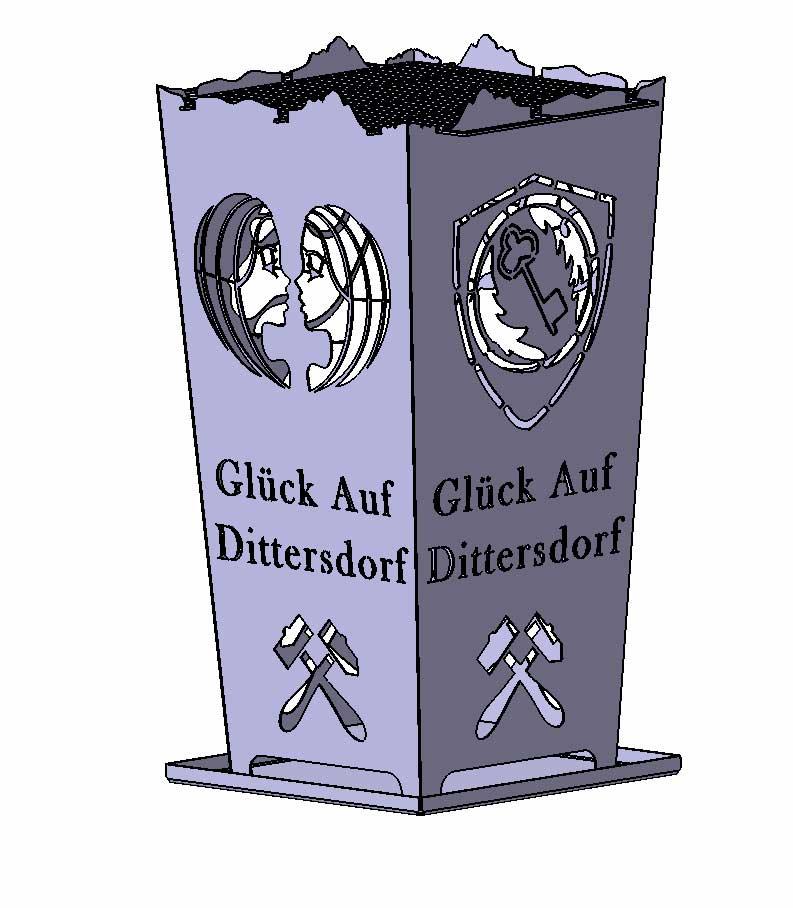 Feuerkorb Glück auf Dittersdorf