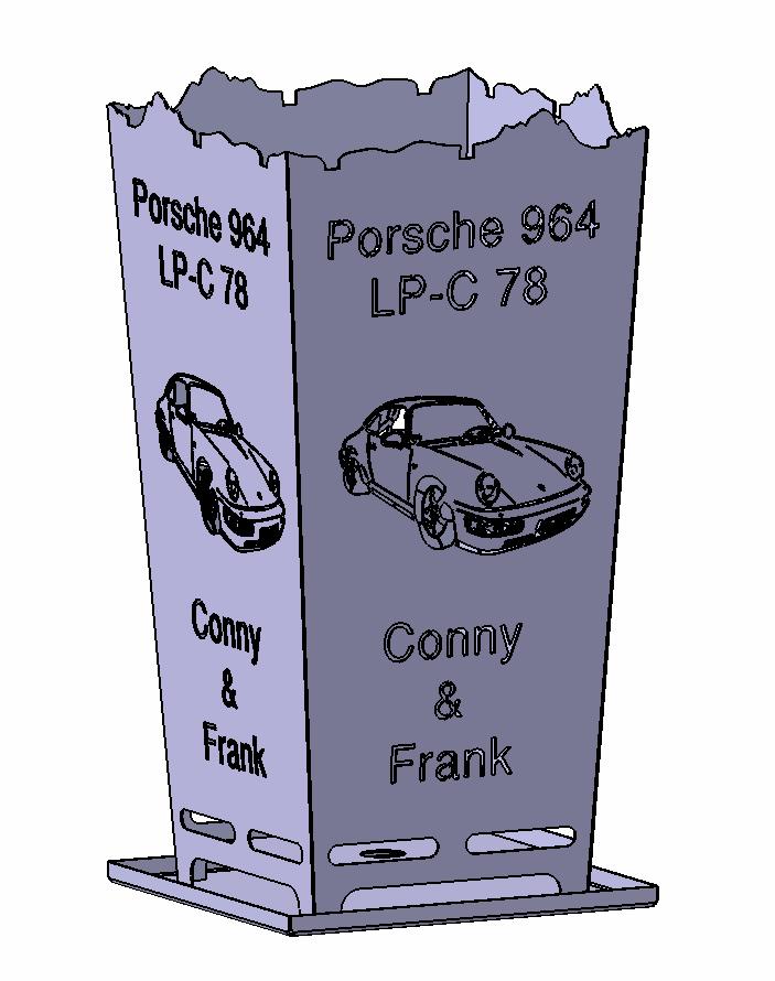 Feuerkorb Porsche