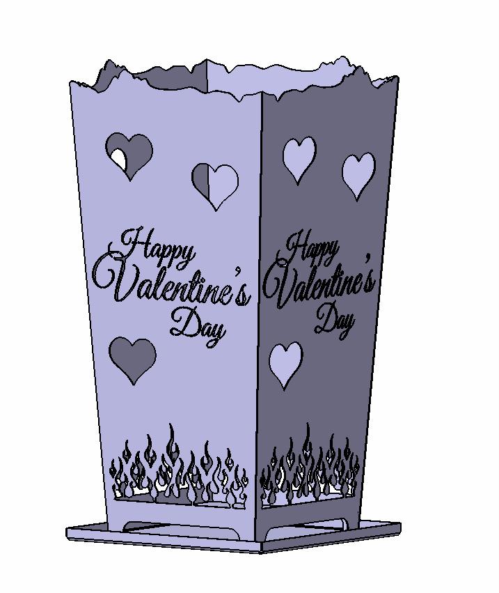 Feuerkorb Happy Valentine's Day