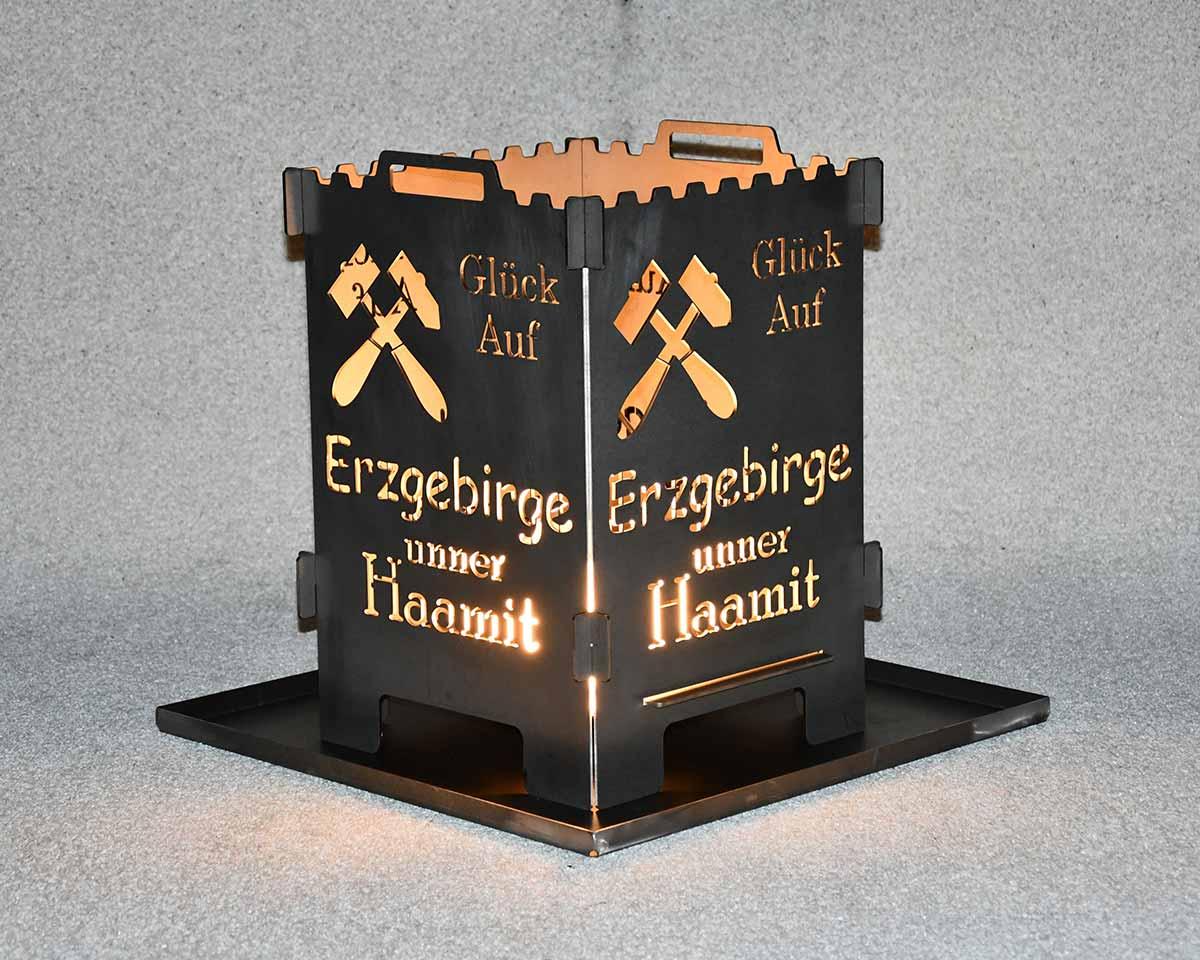 Feuerlaterne Erzgebirge unner Haamit